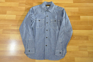 "Freewheelers ""Neal"" Selvage Chambray Shirt (Indigo)"