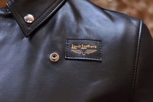 LEWIS LEATHERS BLACK FULL GRAIN COWHIDE 'CYCLONE' JACKET