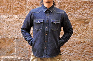 Iron Heart 18oz Selvage  Denim Jacketed Shirt