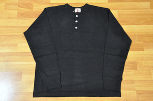 Samurai 6.7oz L/S Loopwheeled Henley Tees