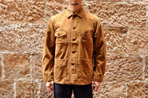 MOMOTARO 12OZ CORDUROY COVERALL (GOLDEN BROWN)