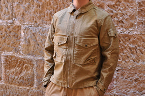 Freewheelers 'S-8 Aviators' Flight jacket (Khaki Beige)