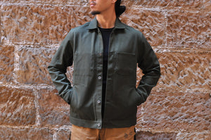 Momotaro '13oz Selvage Duck Work Jacket (Military Green)