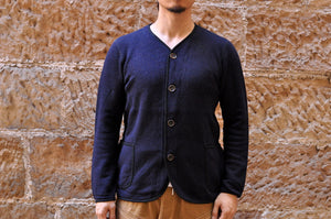 Pure Blue Japan 11oz Indigo Dyed 'Wooly' Cardigan