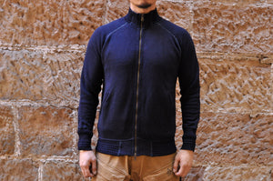 Pure Blue Japan 11oz Indigo Dyed 'Wooly' Track Jacket