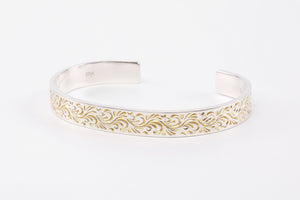 LEGEND 8MM 'REBIRTH' BANGLE WITH 24K GOLD