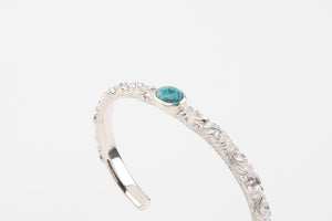 Legend 6mm 'Ivy'  Silver Bungle With Turquoise