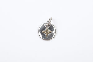 First Arrow's Mini Pendant With 18K Gold Sunburst (Size M)