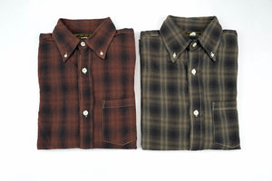 FREEWHEELERS 8OZ OMBRE CHECK SHIRT