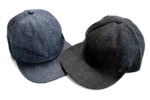 BONCOURA 15OZ DENIM US NAVY CAP (BLACK)