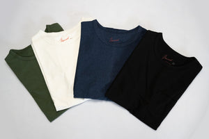 BONCOURA 9OZ ULTRA HEAVY LOOPWHEELED POCKET TEE (HEATHER INDIGO)