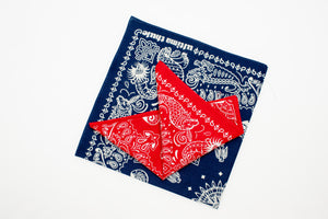 FREEWHEELERS 'SEA-MONSTER' BANDANAS (NAVY/RED)