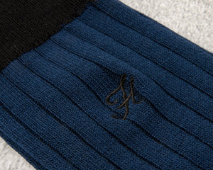 The Flat Head 8'' Ribbed Cotton Socks