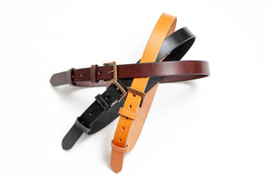 Warehouse Co. Cowhide Slim Belt (Brown)