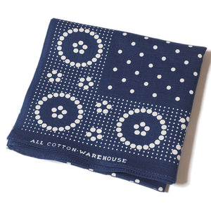 WAREHOUSE 'DOTTED' SELVAGE INDIGO BANDANA