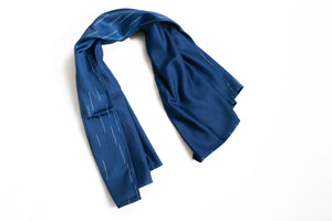 BLUE BLUE JAPAN 'RAINDROP' RAYON SATIN LARGE SCARF