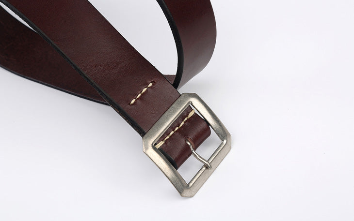 Warehouse 'Garrison' Cowhide Belt (Brown)