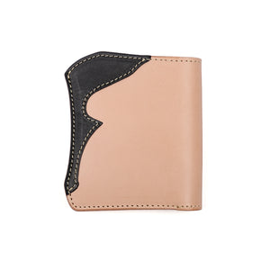 The Flat Head x Corlection Mini Cowhide Wallet (Tan Body)