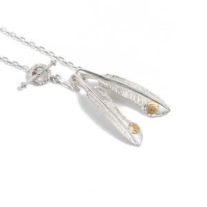 "Legend ""Small Feather"" Pendant with 22k Gold Emblem (Special Edition)"