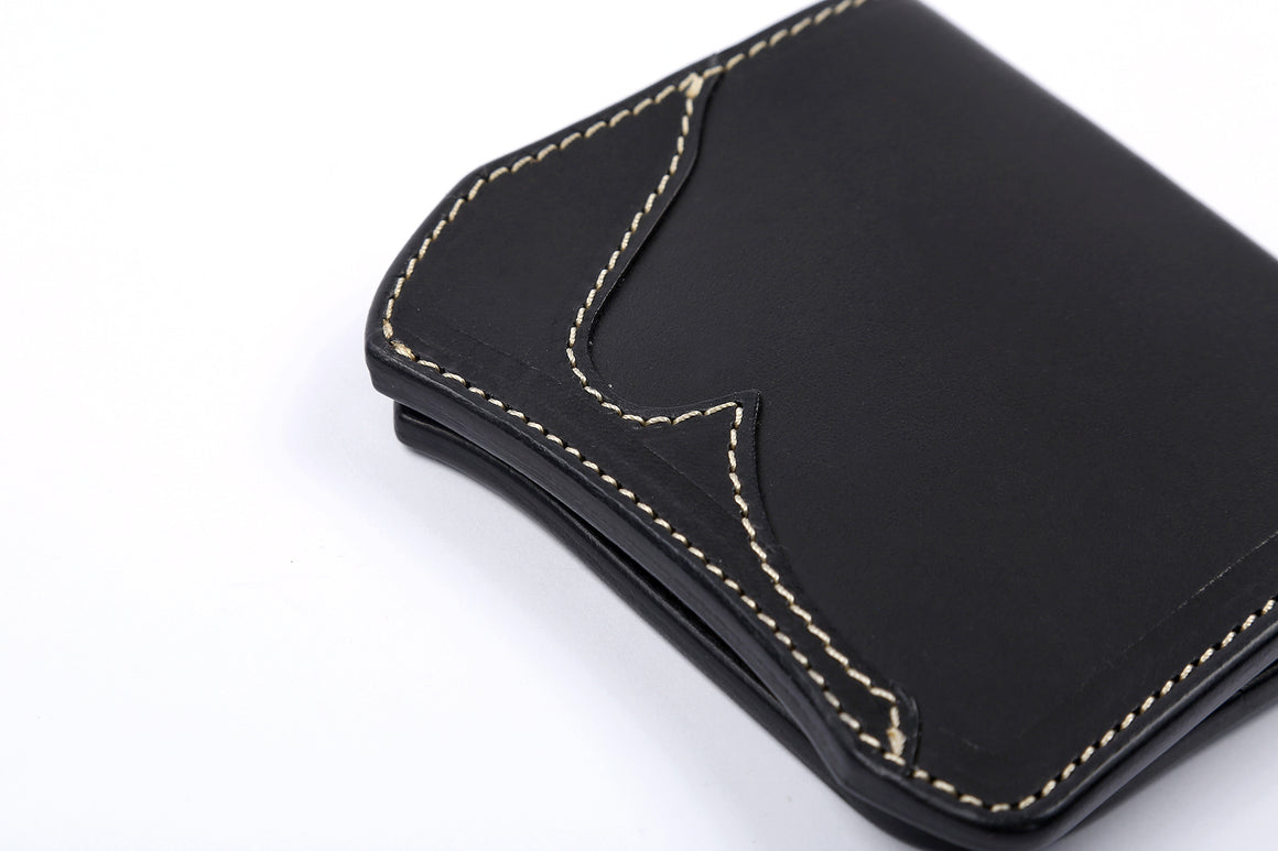 The Flat Head x Corlection Mini Cowhide Wallet (Black)