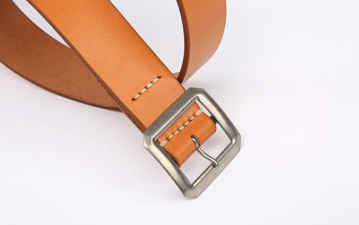 Warehouse 'Garrison' Cowhide Belt (Tan)
