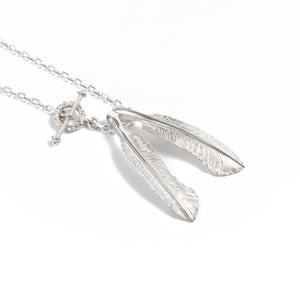 "Legend ""XX-Small Feather"" Silver Pendants"