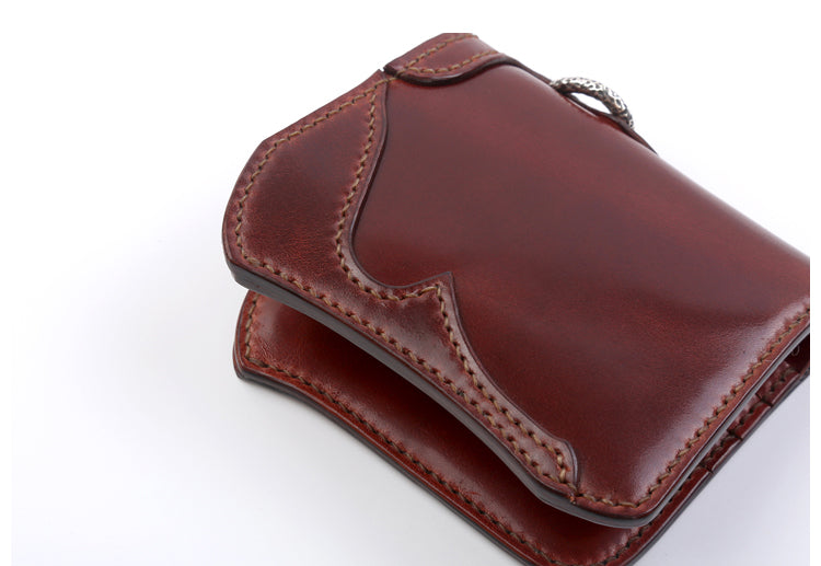 The Flat Head X CORLECTION Mini Cordovan Wallet (Pure Whisky)