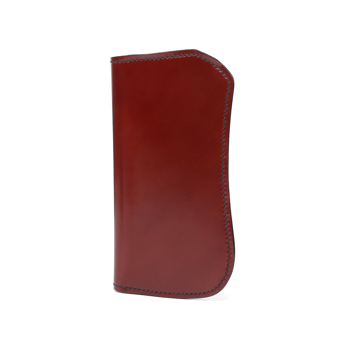 The Flat Head Semi-long Cordovan & Cowhide With Lizard quarter Wallet(Whisky)