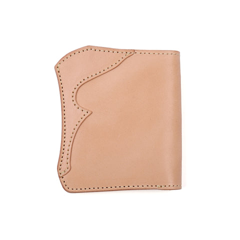 The Flat Head x Corlection Mini Cowhide Wallet (Tan)