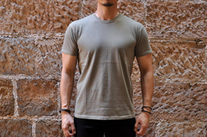 The Flat Head 7oz Super Slow Loopwheeled Tee (Olive)