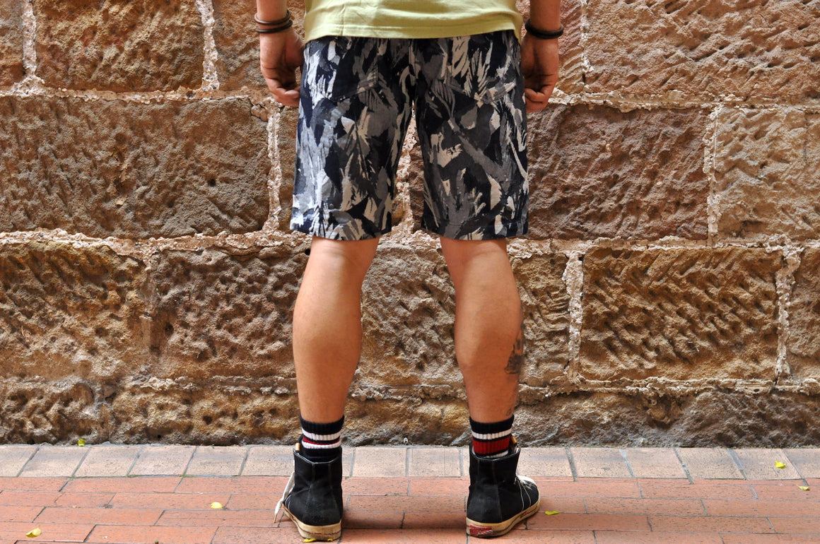 Pure Blue Japan Indigo Camo Shorts