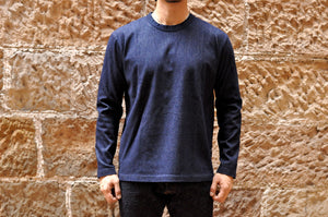 Pure Blue Japan 7.5oz Indigo Dyed 'Flex-Denim' L/S Tee