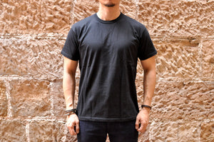 Samurai 6.7oz Loopwheel 'Overseas-Edition' Tee (Black)