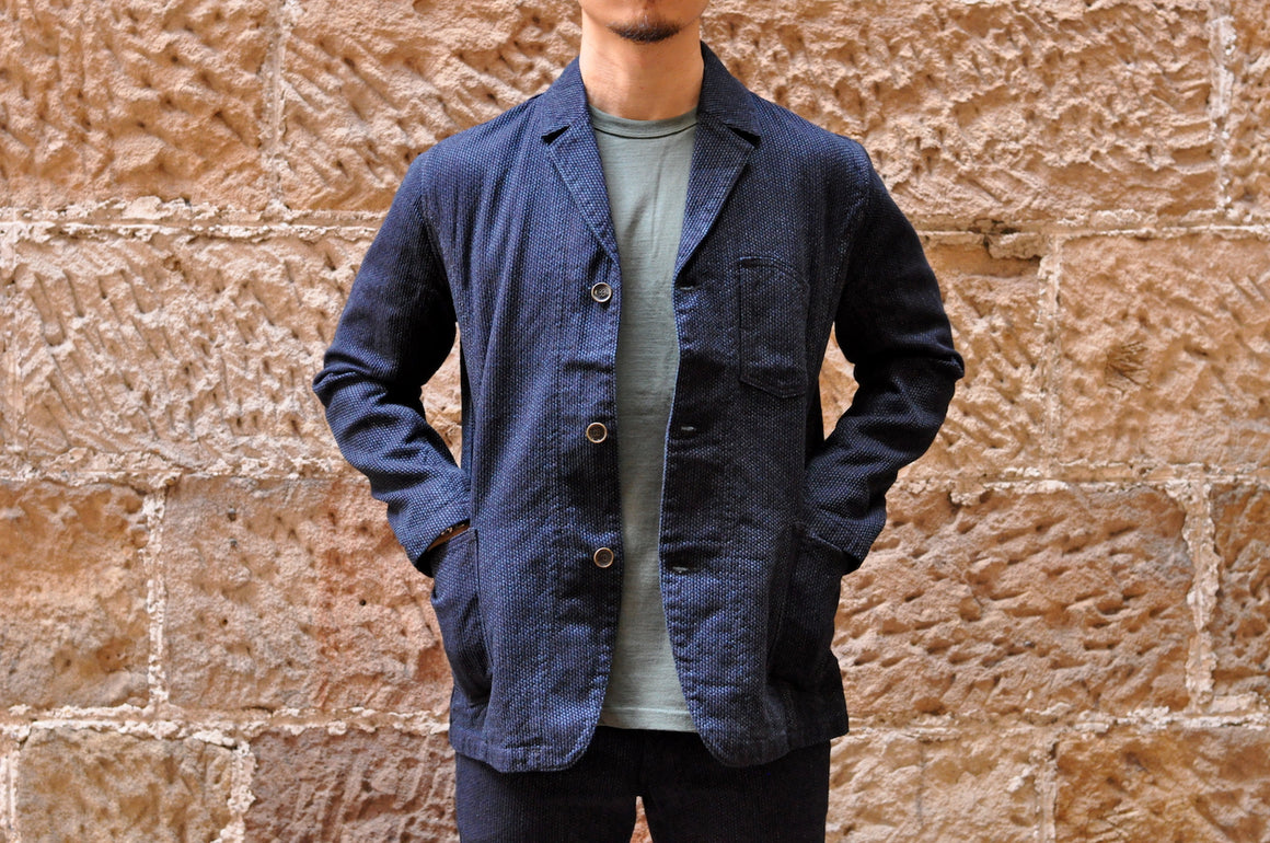 Pure Blue Japan 14oz Indigo Sashiko Blazer