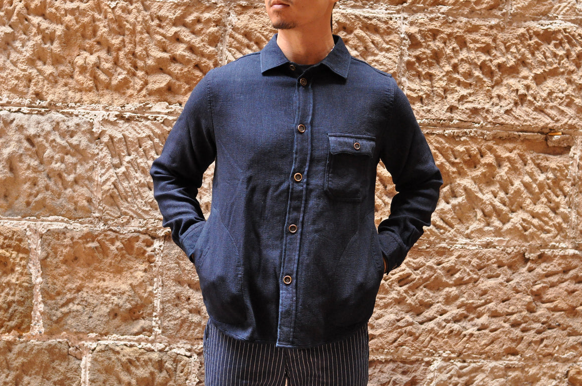 Pure Blue Japan Indigo Heavy Denim Gauze C.P.O Shirt