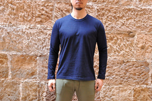 PURE BLUE JAPAN 6.5OZ INDIGO DYED L/S TEE