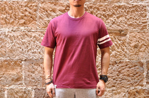 "Momotaro 7oz ""Going To Battle"" Tee (Burgundy)"