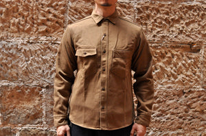 Freewheelers 'Gemsa' Heavy Kersey Workshirt (Dark Beige)