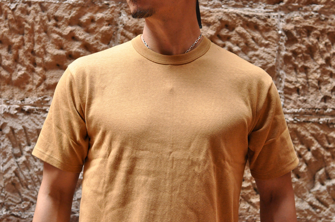 Freewheelers 6.2oz Plain Loopwheel Tee (Camel)