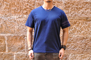 "Momotaro 7oz ""Going To Battle"" Tee (Indigo)"
