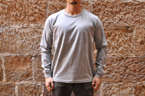 Full Count X Corlection L/S Tubular Tee (Grey)