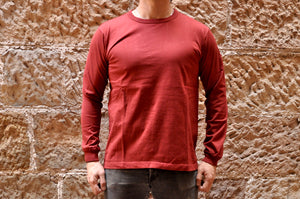 Full Count X Corlection L/S Tubular Tee (Maroon)