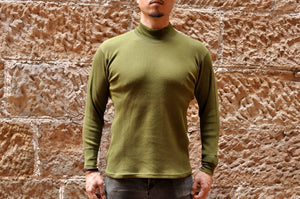 Freewheelers 'Half Neck' Thermal Shirt (Olive)
