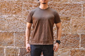 The Strike Gold X CORLECTION 7oz Loopwheeled Tee (Brown)