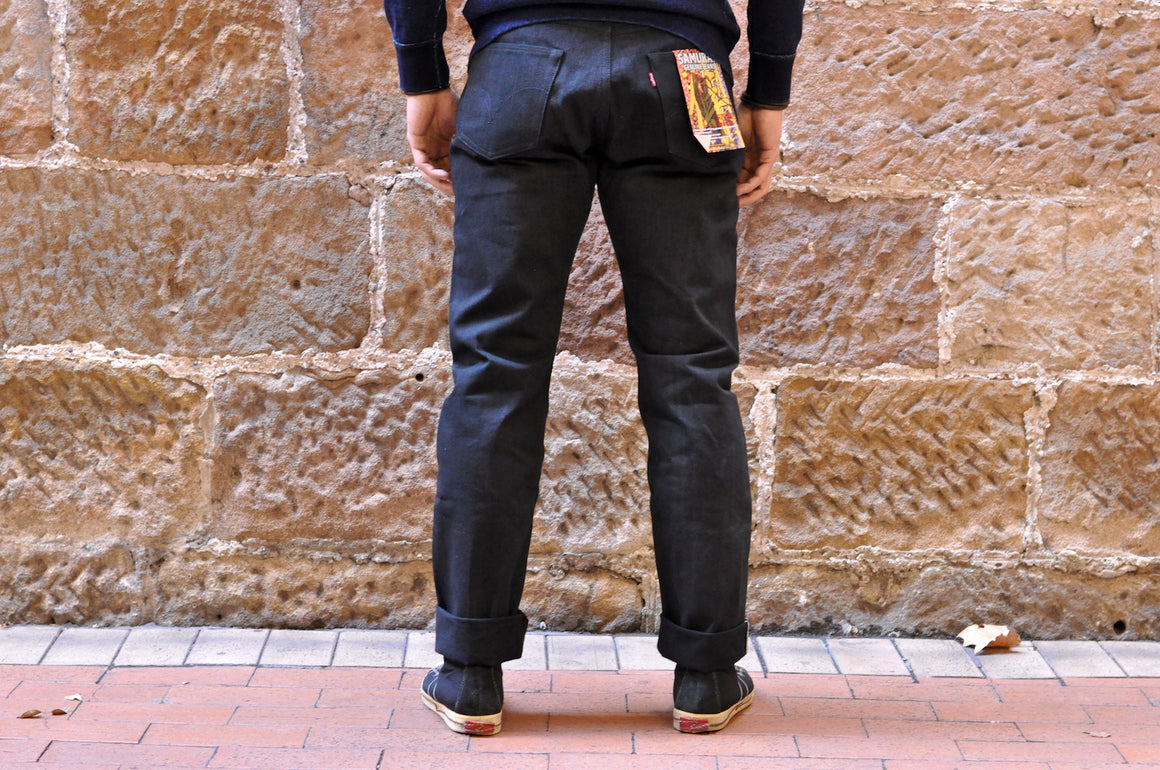Samurai 211NBK 17oz Black Denims (Relaxed Tapered fit)