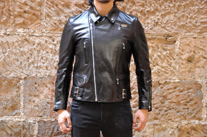 Lewis Leathers Black Horsehide Lightning 391T (Tight Fit)