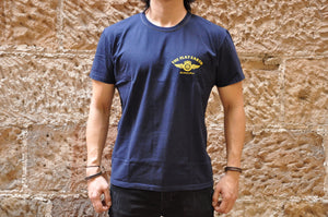"The Flat Head X CORLECTION 7oz ""Edge Of The World""Loopwheeled Tee(Navy)"