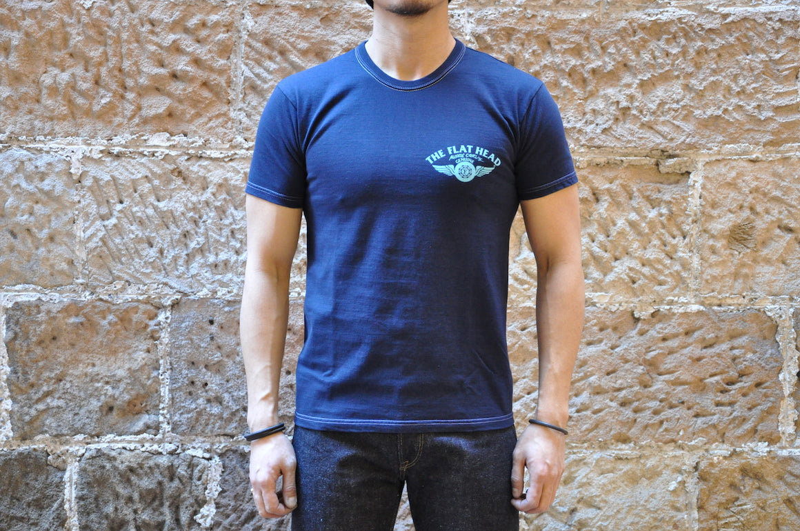 "The Flat Head X CORLECTION ""Aussie CORLing"" Tee (Dark Navy)"