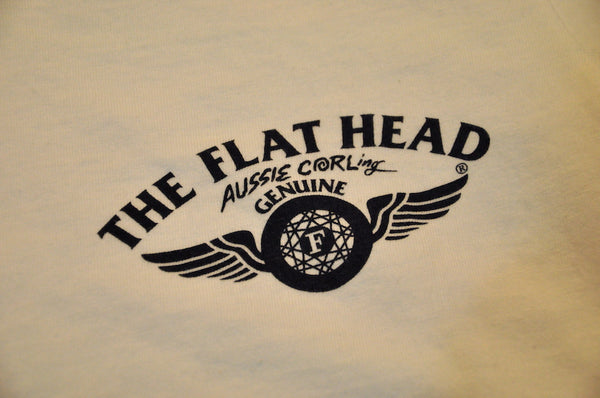 "The Flat Head X CORLECTION ""Aussie CORLing"" Tee (Off White)"