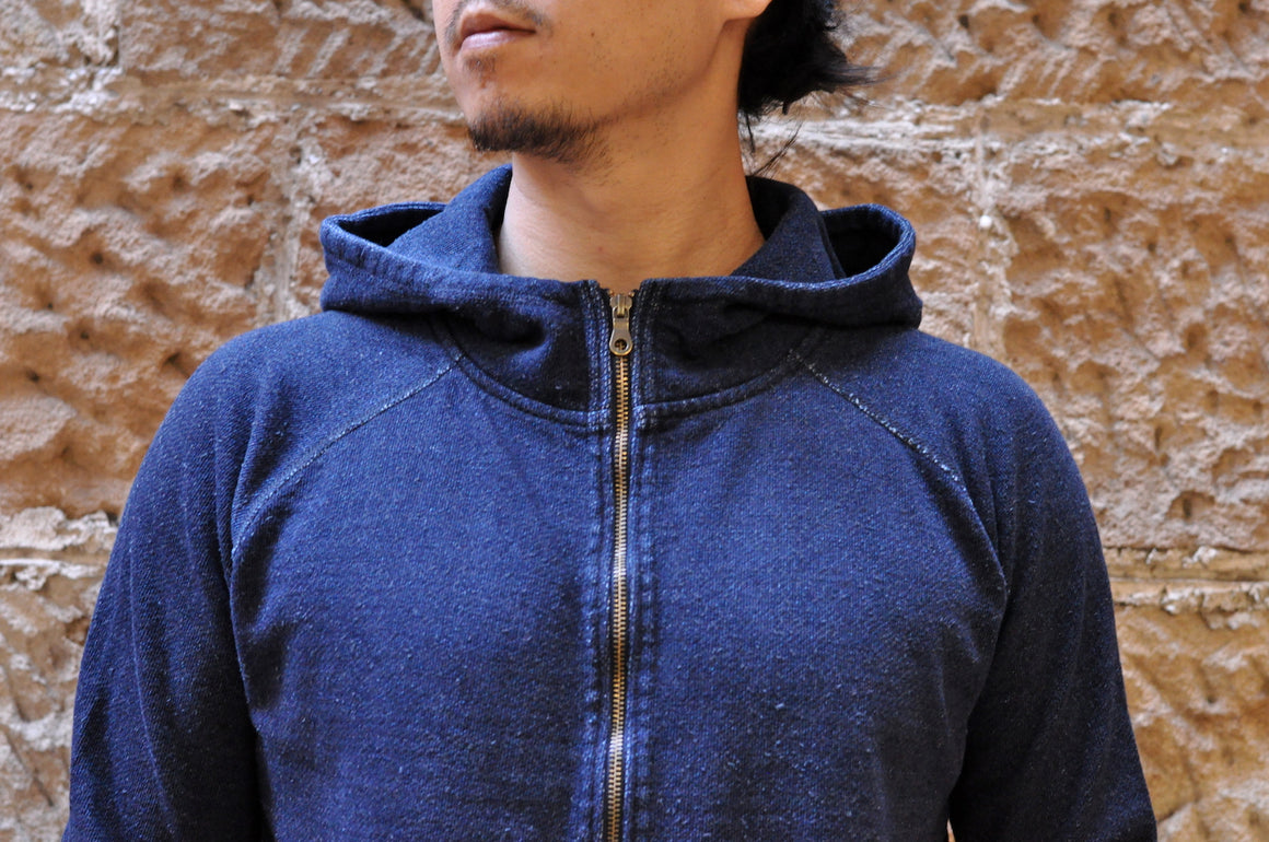 Pure Blue Japan Indigo Ribbed Hoody